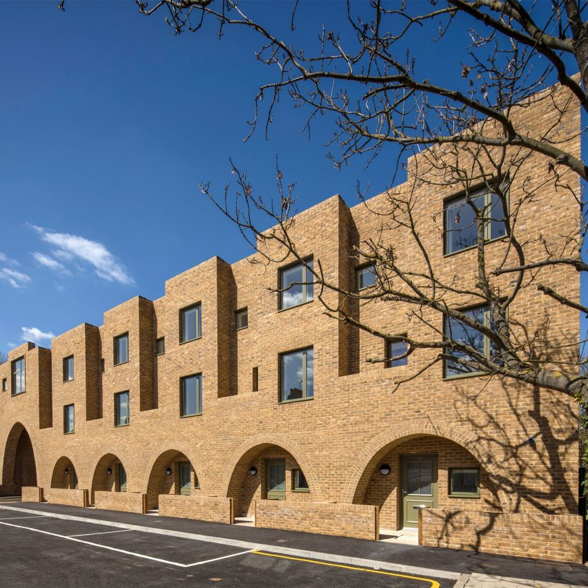 """Peter Barber includes """"cosy"""" arched entrances at east-London housing scheme"""