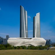 Zaha Hadid's Nanjing International Youth Cultural Centre nears completion