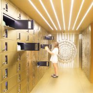 Bangkok shoe store by External Reference mimics a bank vault