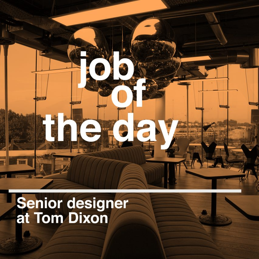 Job of the day senior designer at tom dixon architect aia for Senior designer jobs