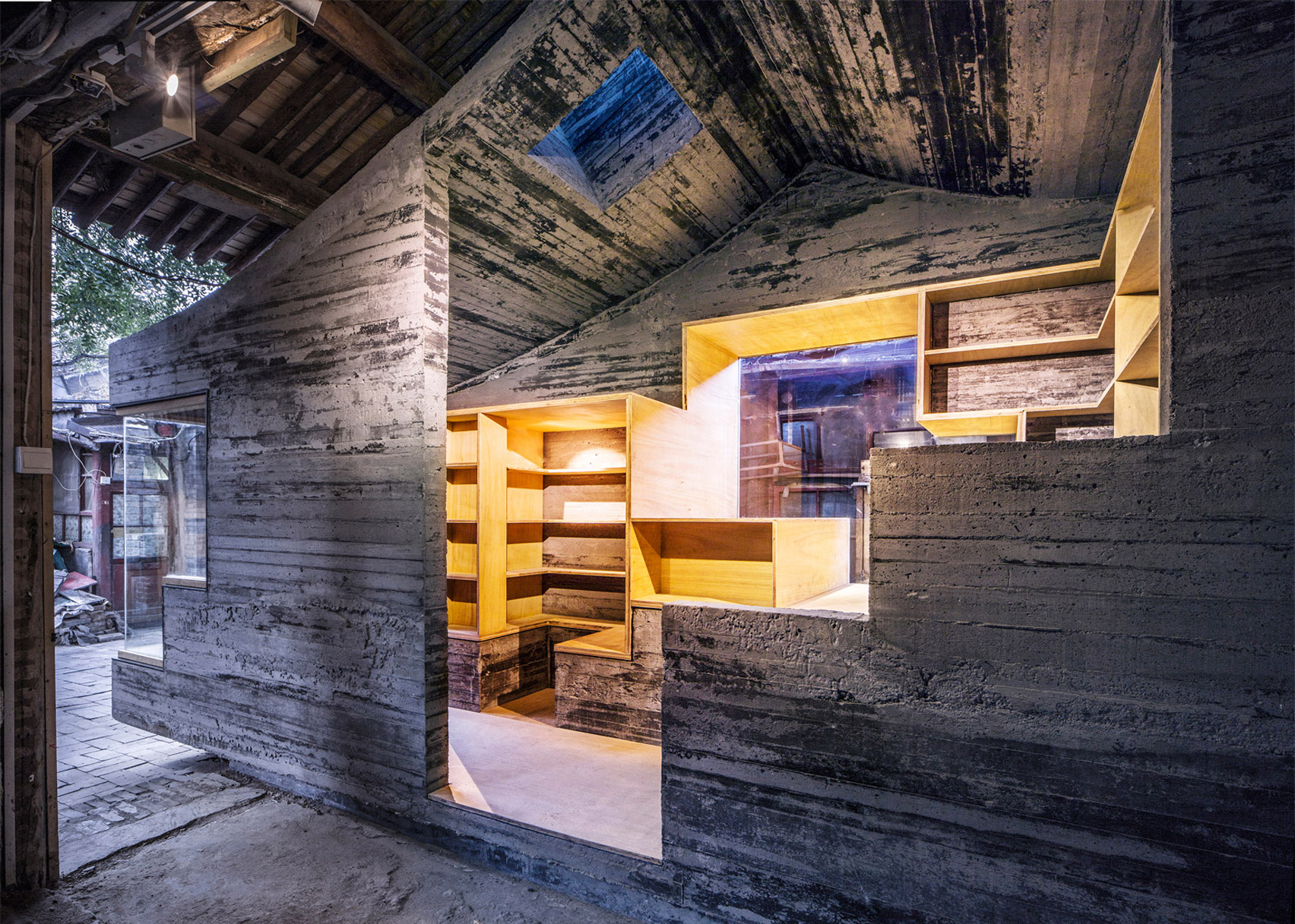 Cha'er Hutong Children's Library and Art Centre, Beijing, China by ZAO, standardarchitecture and Zhang Ke