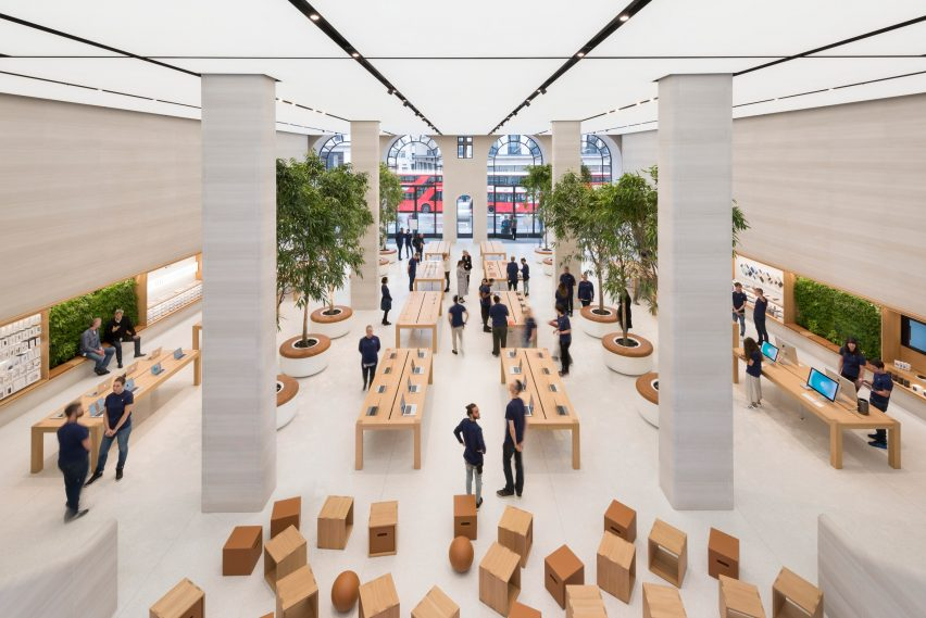 9565d8bee Apple unveils revamped Regent Street store by Foster + Partners