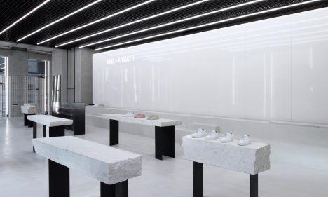 Christian Halleröd designs minimal interior for Axel Arigato London flagship store