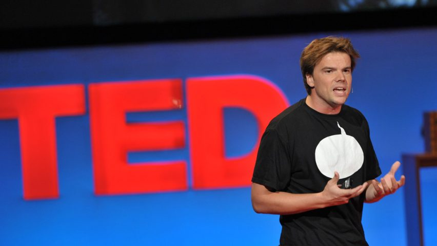 Bjarke Ingels presenting his TED Talk
