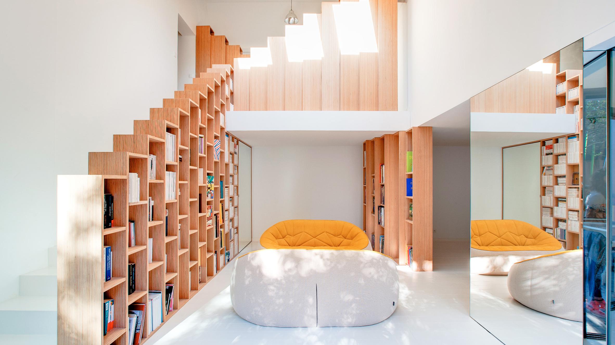 Bookshelf House Andrea Mosca Interior