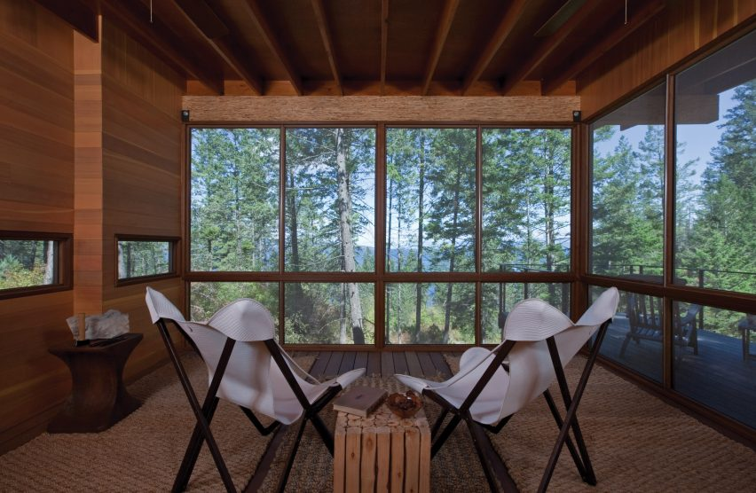 Cabin on Flathead Lake by Anderson-Wise Architects