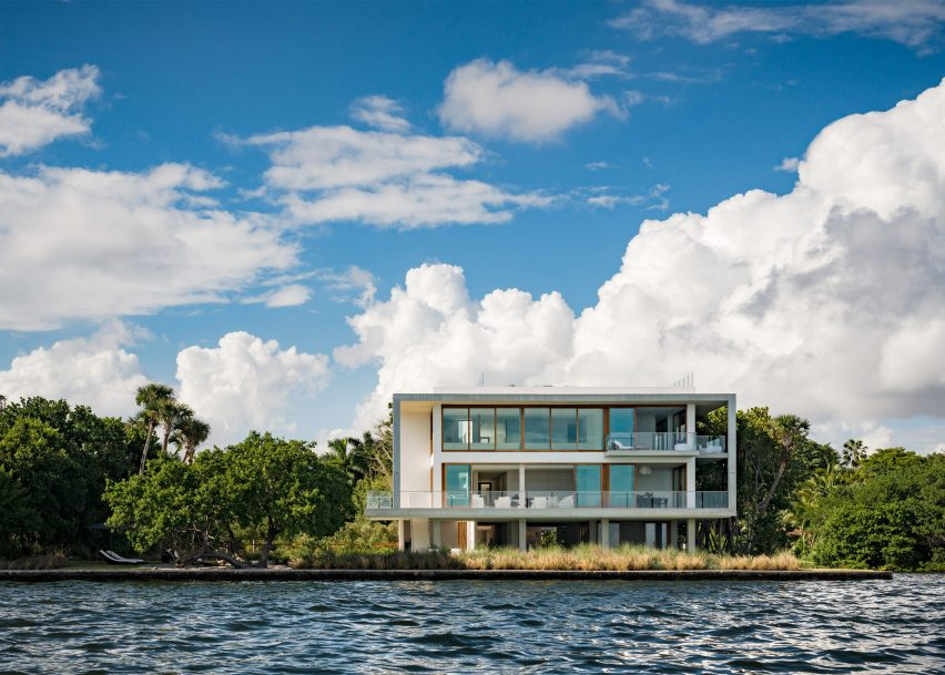 Filmmaker's first architectural project is modernism-influenced Miami villa