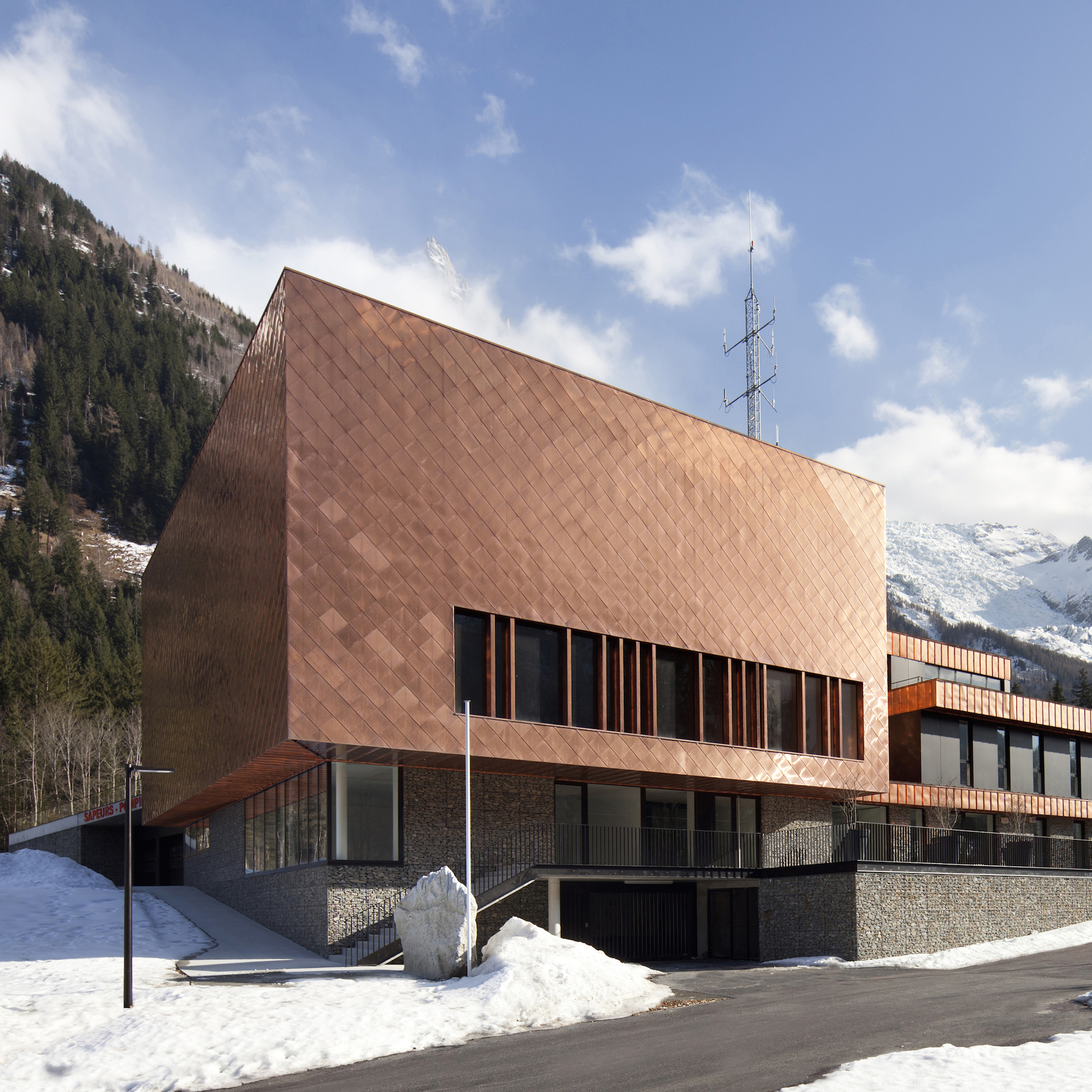 Wonderful Copper Scales Cover Fire Station In French Alps By Studio Gardoni  Architectures Idea
