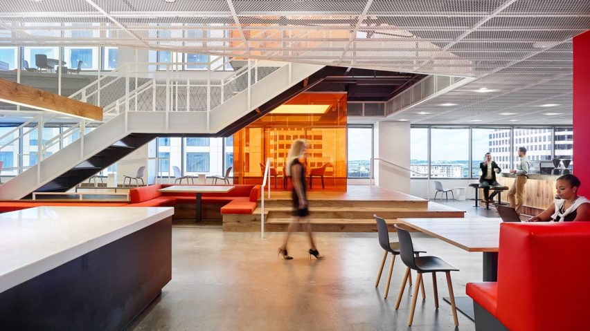 Clive Wilkinson Designs Austin Workplace With No Cubicles Or Corner Offices