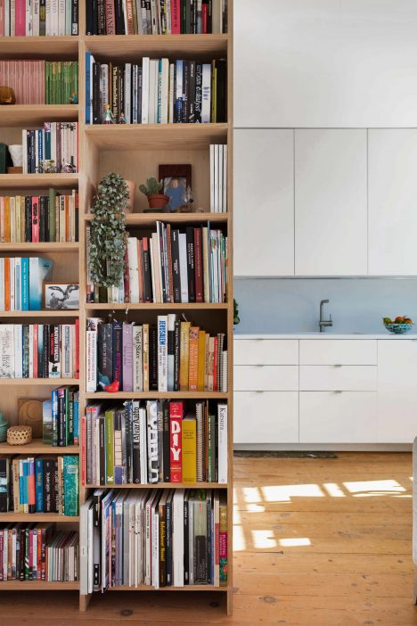 Custom joinery creates tailored storage systems inside home for Emil Eve Architects founders