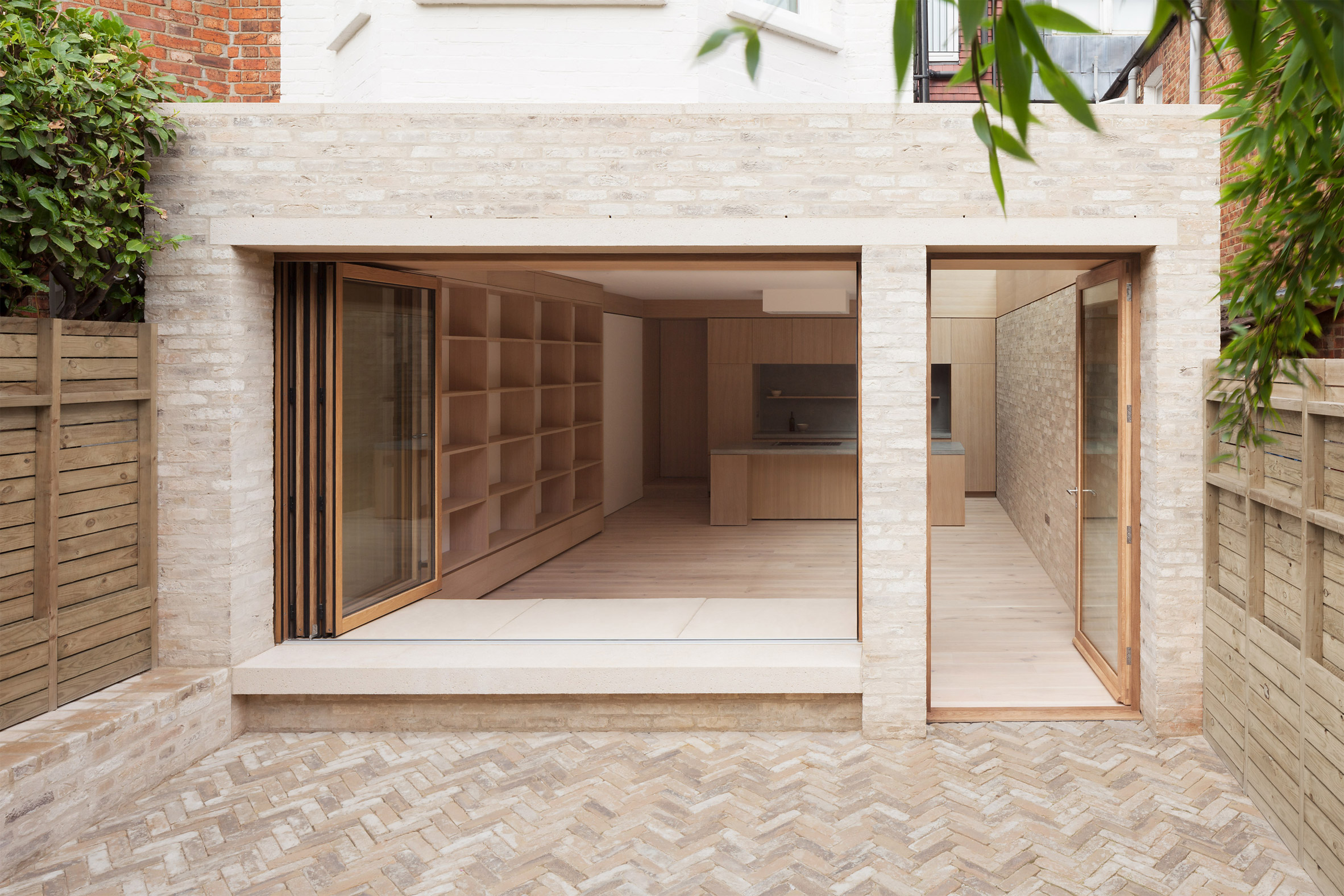 Erbar Mattes adds pale brick extension to Edwardian house in north London