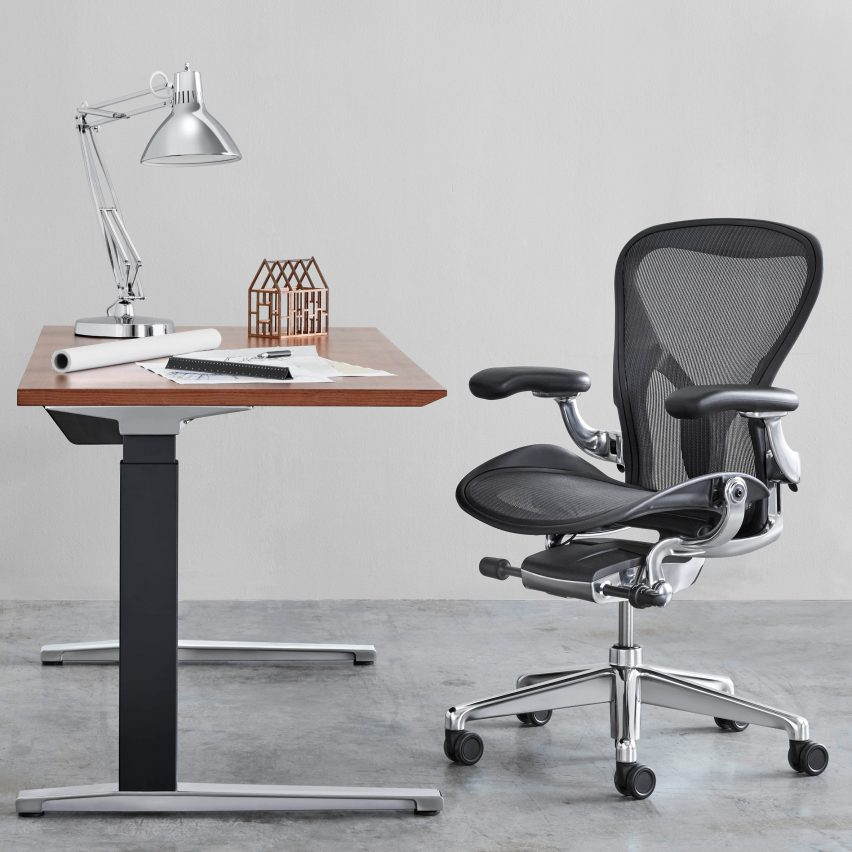 herman miller updates iconic aeron office chair sig. Black Bedroom Furniture Sets. Home Design Ideas