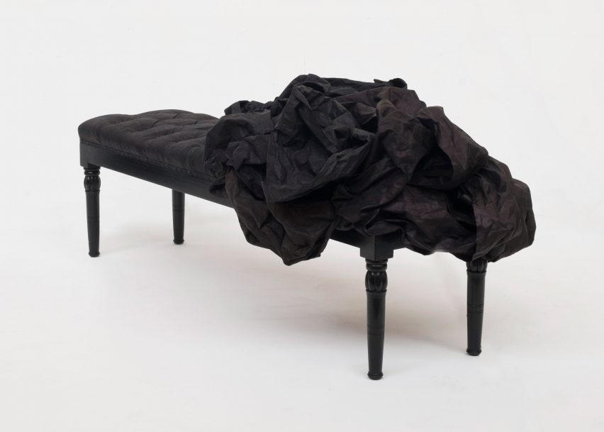 Indigo bench by James Plumb