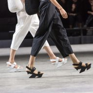 United Nude and Issey Miyake experiment with wood and leather for Rock and Wrap shoes