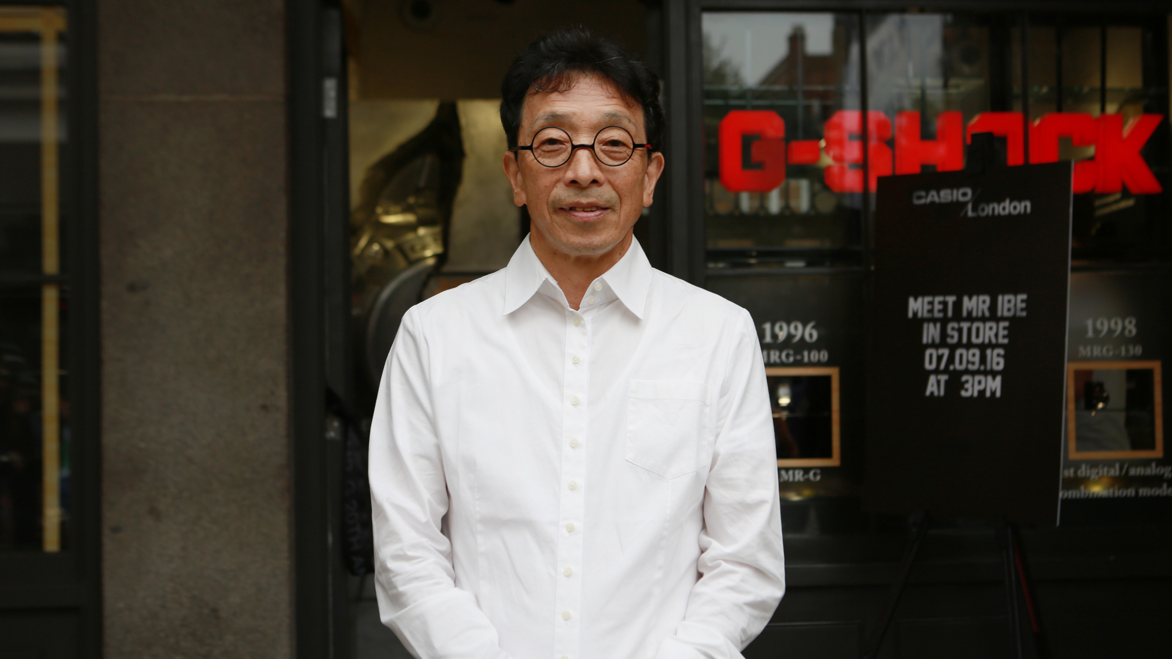 Casio's research and development chief engineer Kikuo Ibe