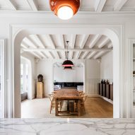 05 AM Arquitectura updates 19th-century house in France with marble accents