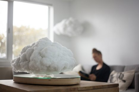 Richard Clarkson disguises Bluetooth speaker as levitating indoor cloud