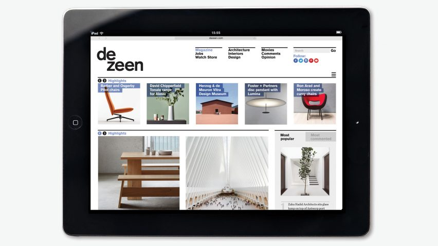 Welcome to the new-look Dezeen