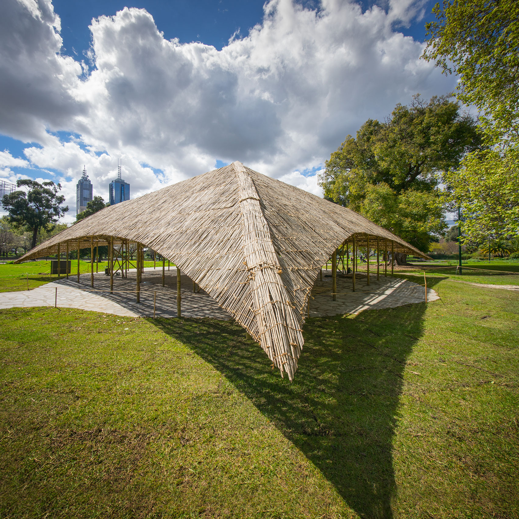 Studio Mumbai Presents MPavilion 2016 Built Using Seven Kilometres Of Bamboo