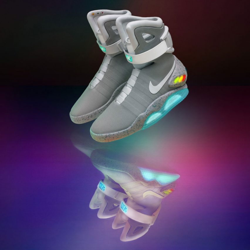6d271126acc5 Nike raffles Mag self-lacing shoes from Back to the Future II