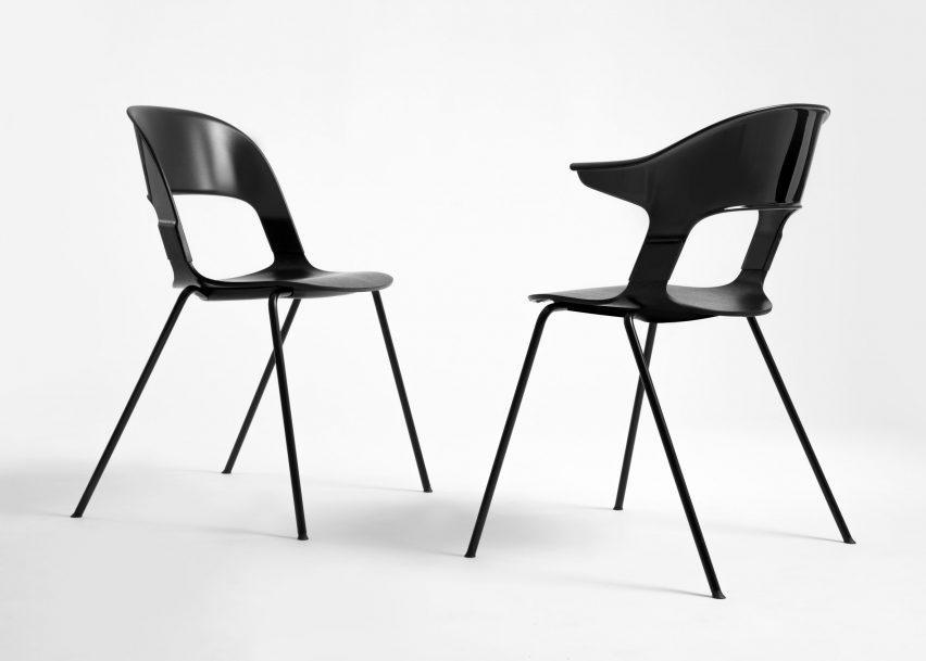 8 Of 13; Pair Chair By Benjamin Hubert For Fritz Hansen