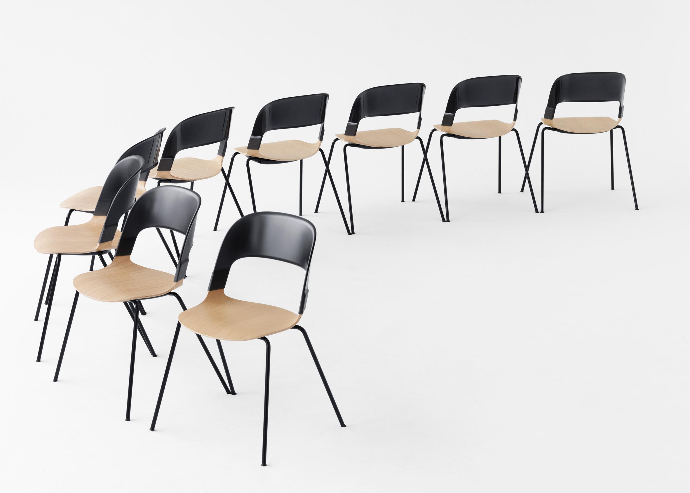 Pair Chair by Benjamin Hubert for Fritz Hansen