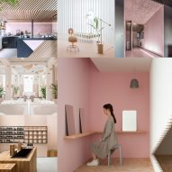 10 of the most popular pink-hued interiors on Dezeen's Pinterest boards