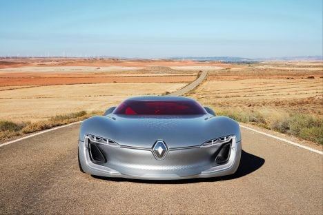 Renault replaces doors with a sliding roof for Trezor concept car