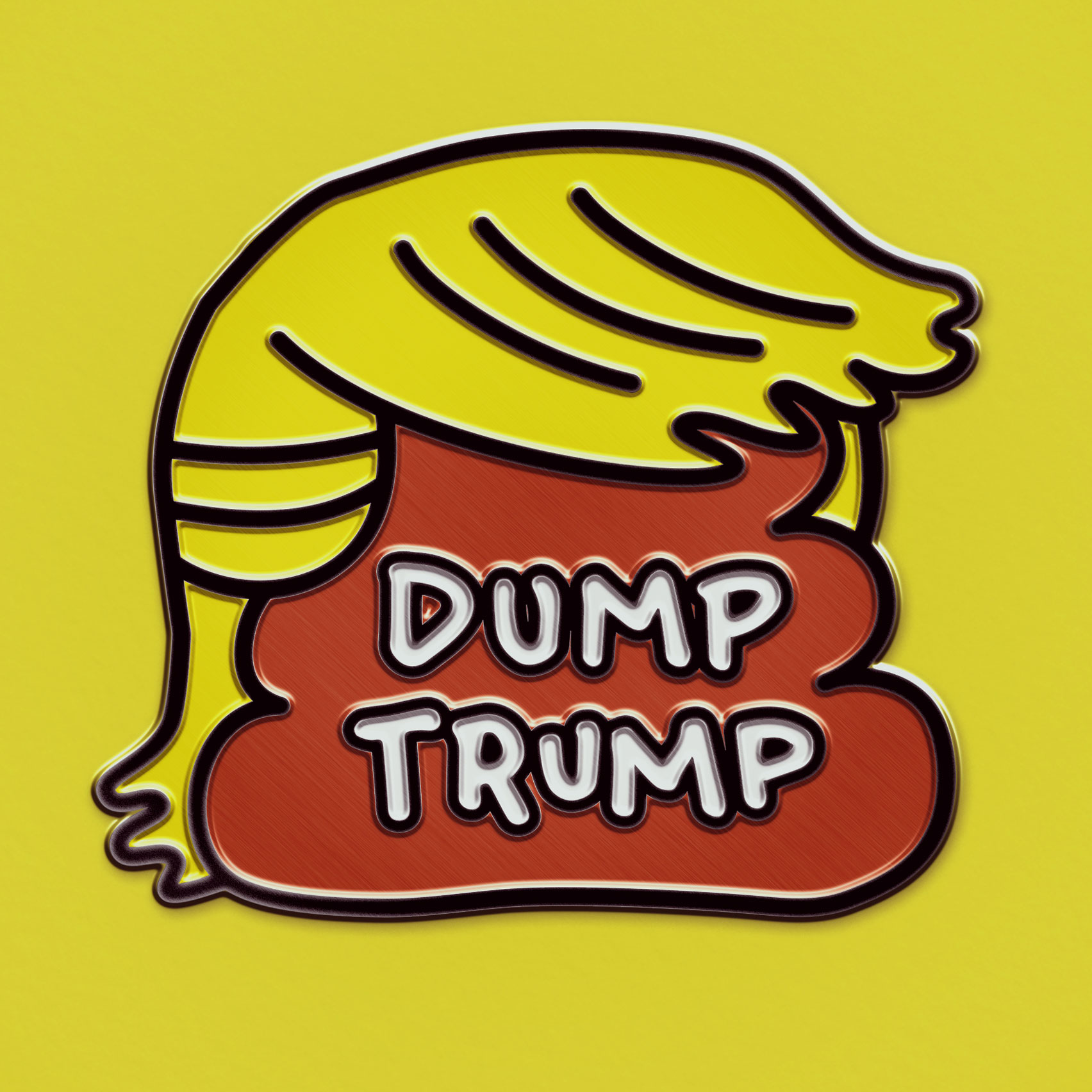 Dump Trump pin by Sagmeister & Walsh