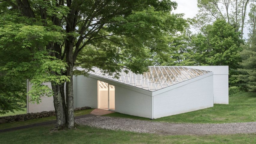 Philip Johnson Glass House restoration work completes on sculpture gallery at philip johnson s