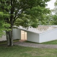 Restoration work completes on sculpture gallery at Philip Johnson's Glass House