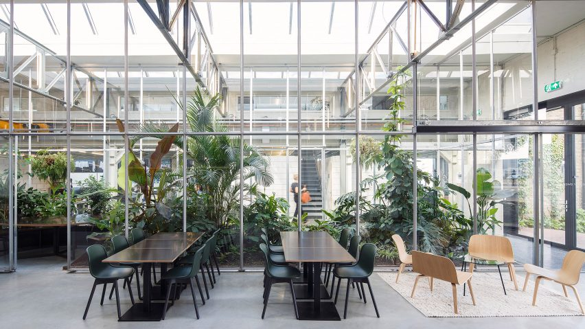Amazing Space Encounters Converts Amsterdam Factory Into Greenhouse Filled Offices