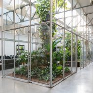 Space Encounters converts Amsterdam factory into greenhouse-filled offices