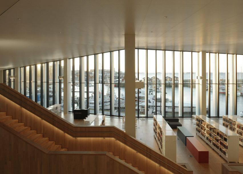 Stormen Concert Hall and Library by DRDH. Photograph by David Grandorge