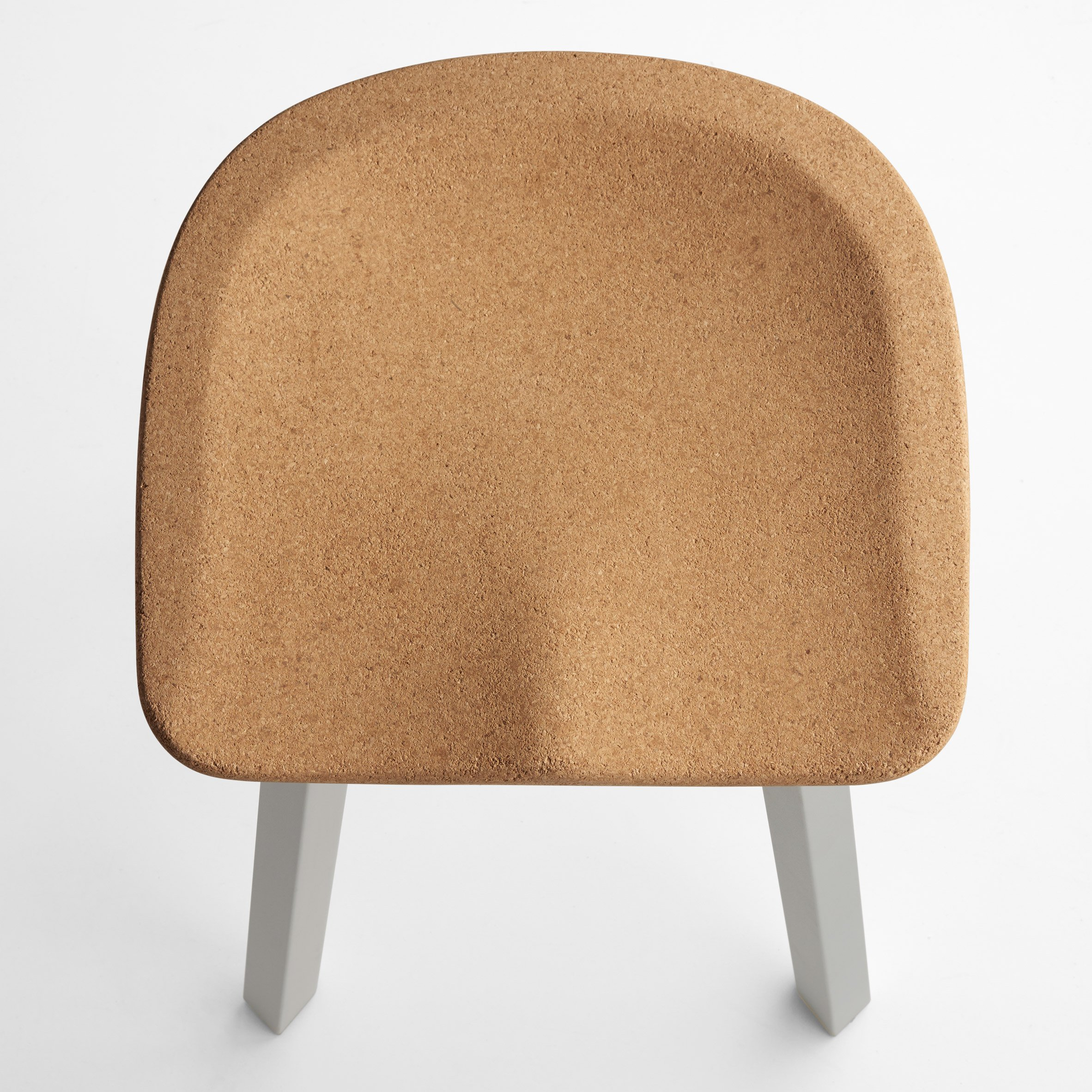 Nendo adds cork seat to its sustainable range of SU stools for Emeco