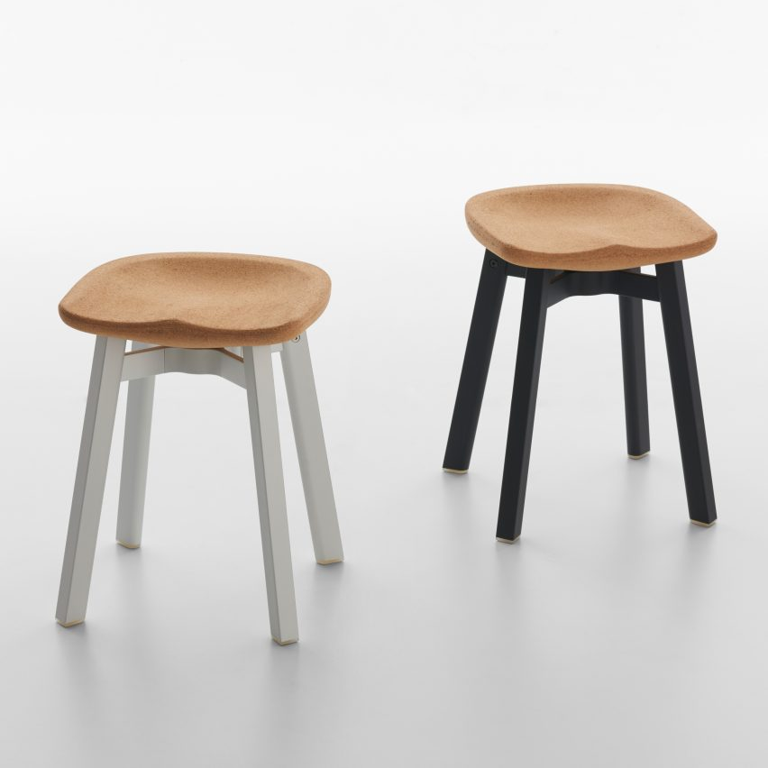 SU Stool collection Cork Seat by Nendo