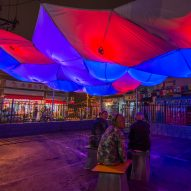 Old Beijing junkyard covered with inflatable canopy by Max Gerthel and Jordan Kanter