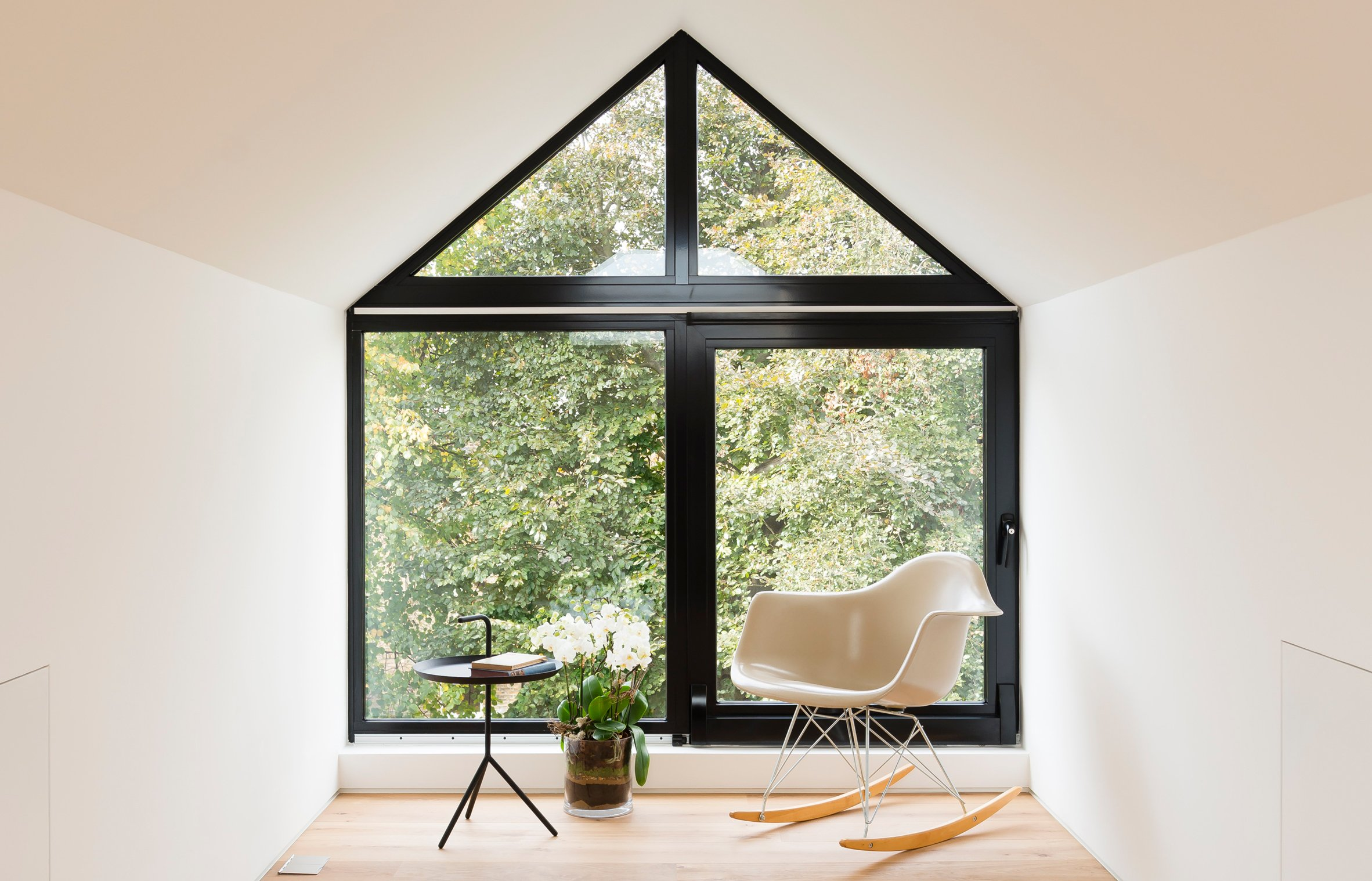 A reading room in a dormer extension