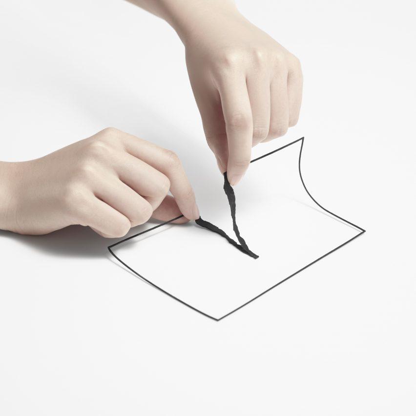 Unprinted materials by Nendo