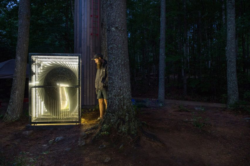 Universal Play Machine flipbooks in the forest by Beam Camp