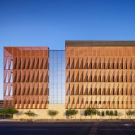 ZGF wraps Arizona medical facility in layer of creased metal panels