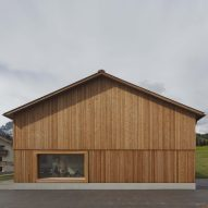 Bernardo Bader Architekten models larch-clad community centre on Austrian farmhouses