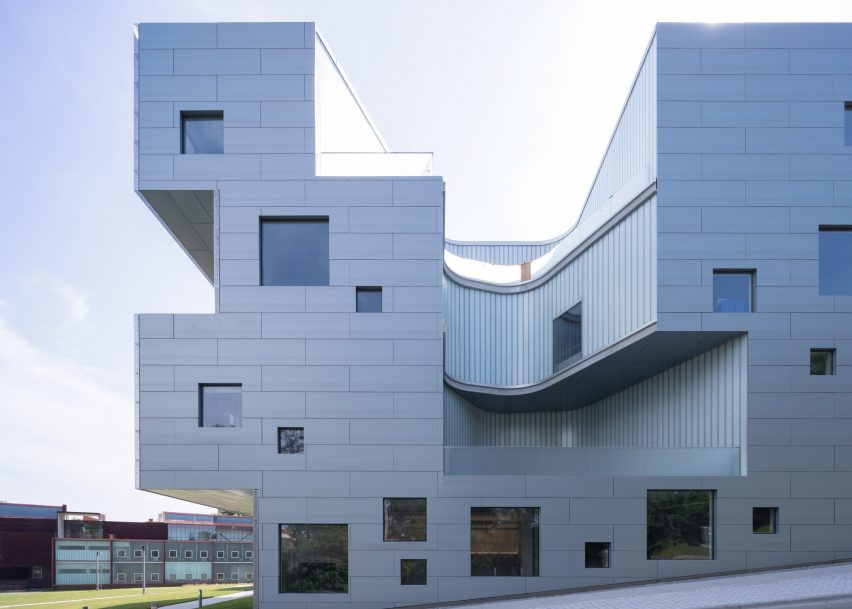 Visual Arts building by Steven Holl
