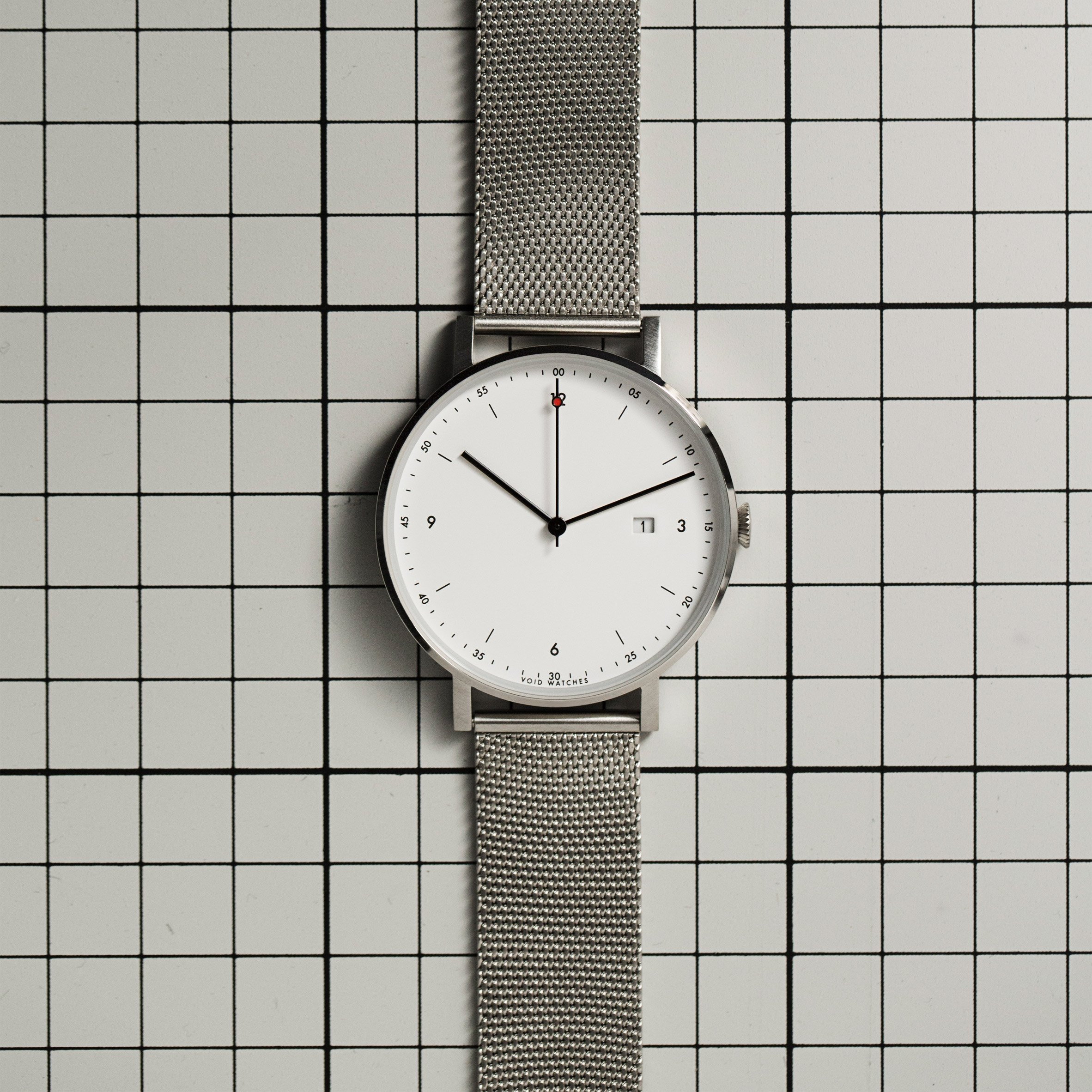 Void's thinnest ever timepiece arrives at Dezeen Watch Store
