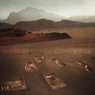 Rasem Kamal proposes warren of subterranean services for Jordan's Wadi Rum