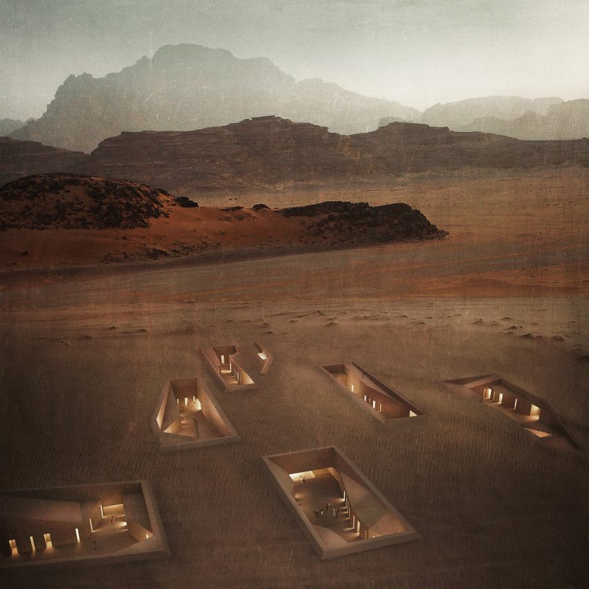 Wadi Rum Excavated Sanctuaries by Rasem Kamal