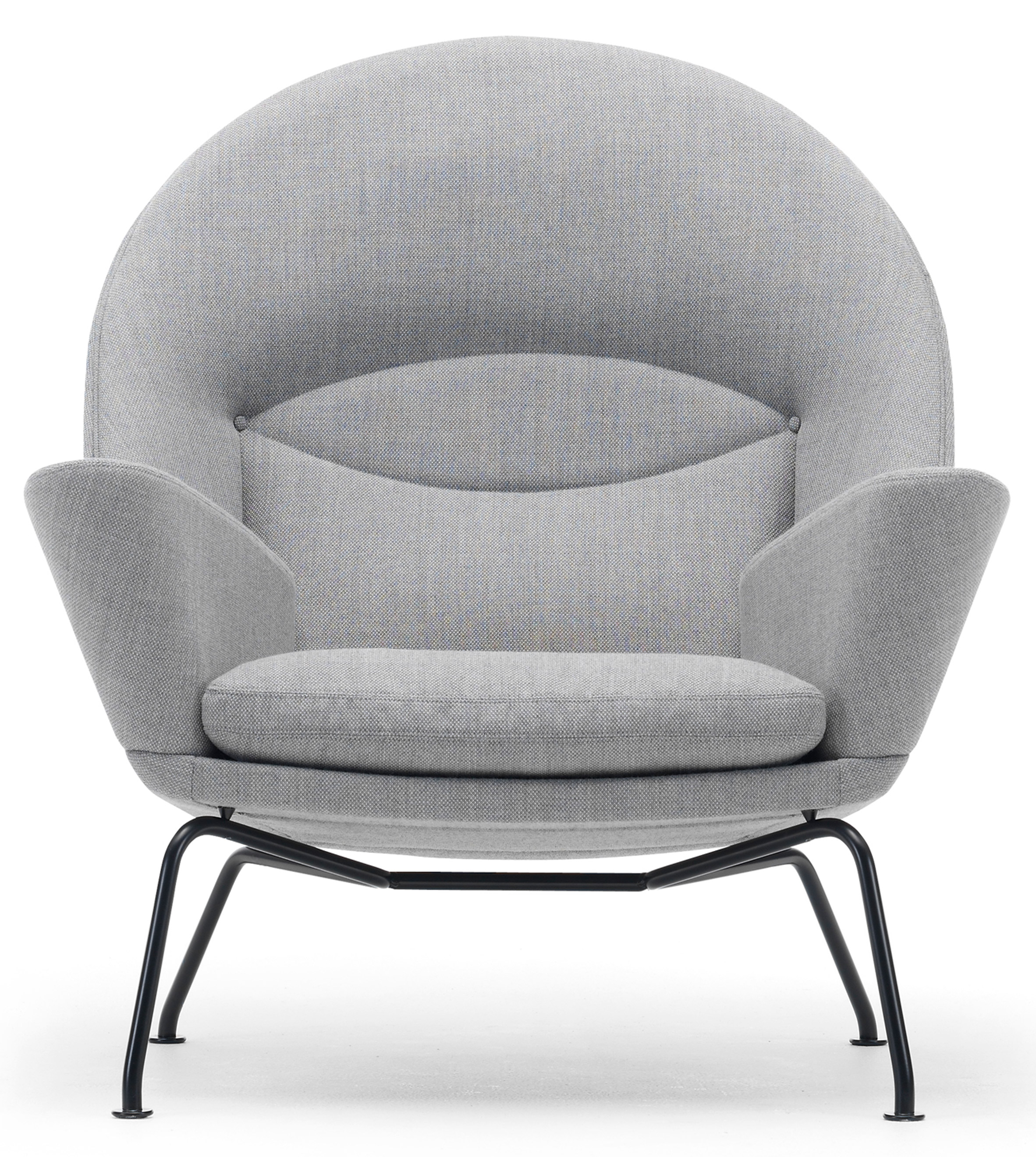 Carl Hansen & Søn adds black frame to Hans J Wegner lounge chairs