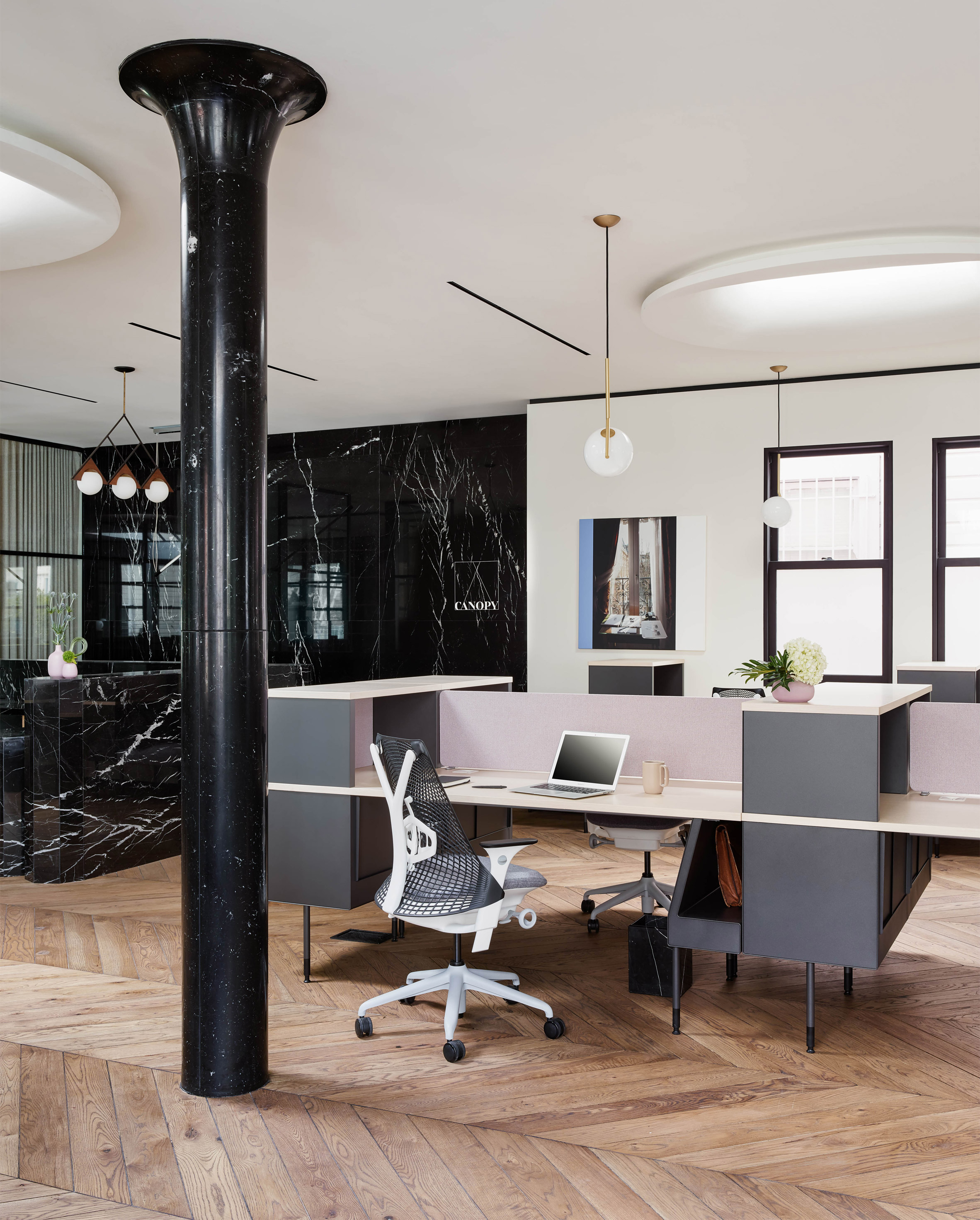 Canopy co working space by yves behar