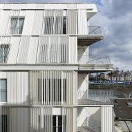 Sliding shutters cover Dietmar Feichtinger Architectes' Parisian apartments