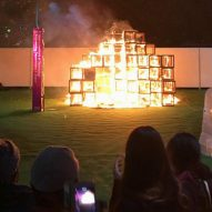 Child dies after exhibit catches fire at Tokyo Design Week